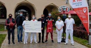 Großer Wurf für Münchner Pflegekräfte: FC Bayern Basketball spendet 30.000 Euro an die München Klinik