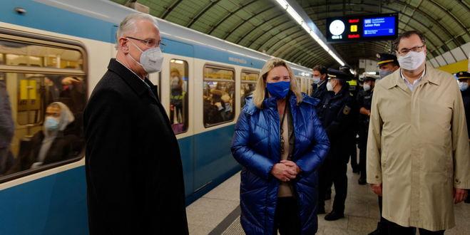Erste bundesweite Kontrollaktion zur Einhaltung der Maskenpflicht